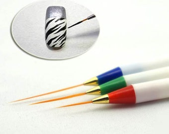 3pcs Acrylic Tips Nail Art Pens Design Brushes Ongle Liner Drawing Painting Pen set