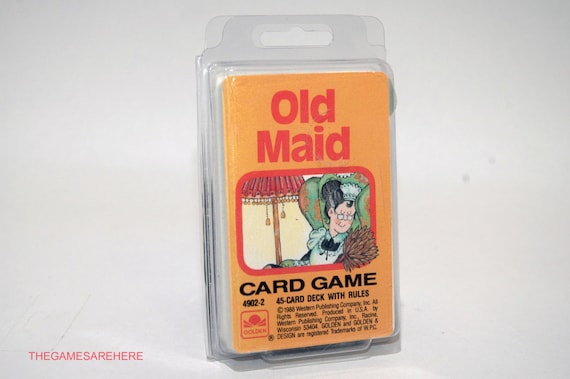 Old Maid Card Game from Golden 1988 COMPLETE (read description)