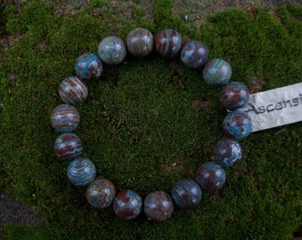 Banded Jasper - Therapeutic Quality Gemstone bracelet for Healing 10mm