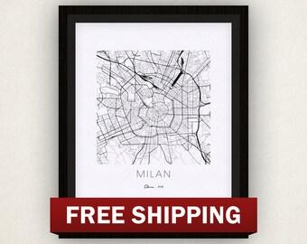 Milan Map Print
