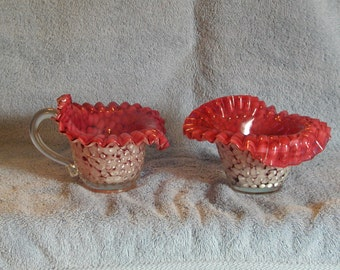 Murano Glass Candy Dishes Hob Nail Design