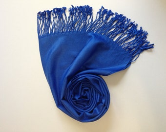 ROYAL BLUE PASHMINA, royal blue shawl, pashmina shawl, pashmina scarf, scarf, shawl, scarves