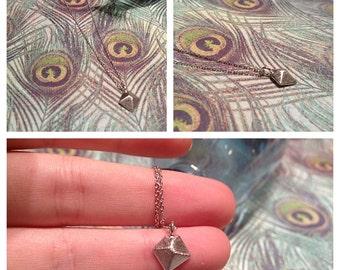 Celebrity Inspired Geometric Diamond Necklace