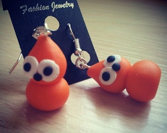 Round Zingy Flame dangle earrings