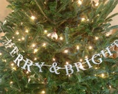 Custom order for Laura ///// Merry & Bright German Glass Glitter Banner
