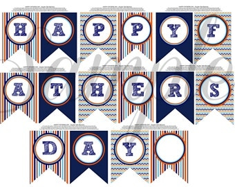 INSTANT Download Happy FATHERS Day Banner PRINTABLE Download - Fun Party diy