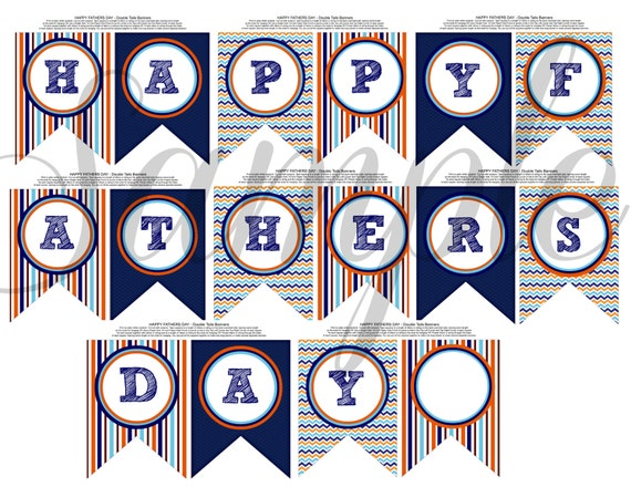 Mesmerizing image for happy father's day banner printable
