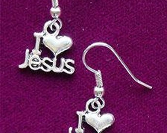 I LOVE Jesus - I HEART Jesus Earrings - 25 Percent Off Coupon Code: SHOPATLUXE4FAVORITES