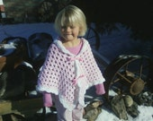 Crochet Little Girls Poncho SALE enter code 4MYBABY2 for 10% off through 10/31