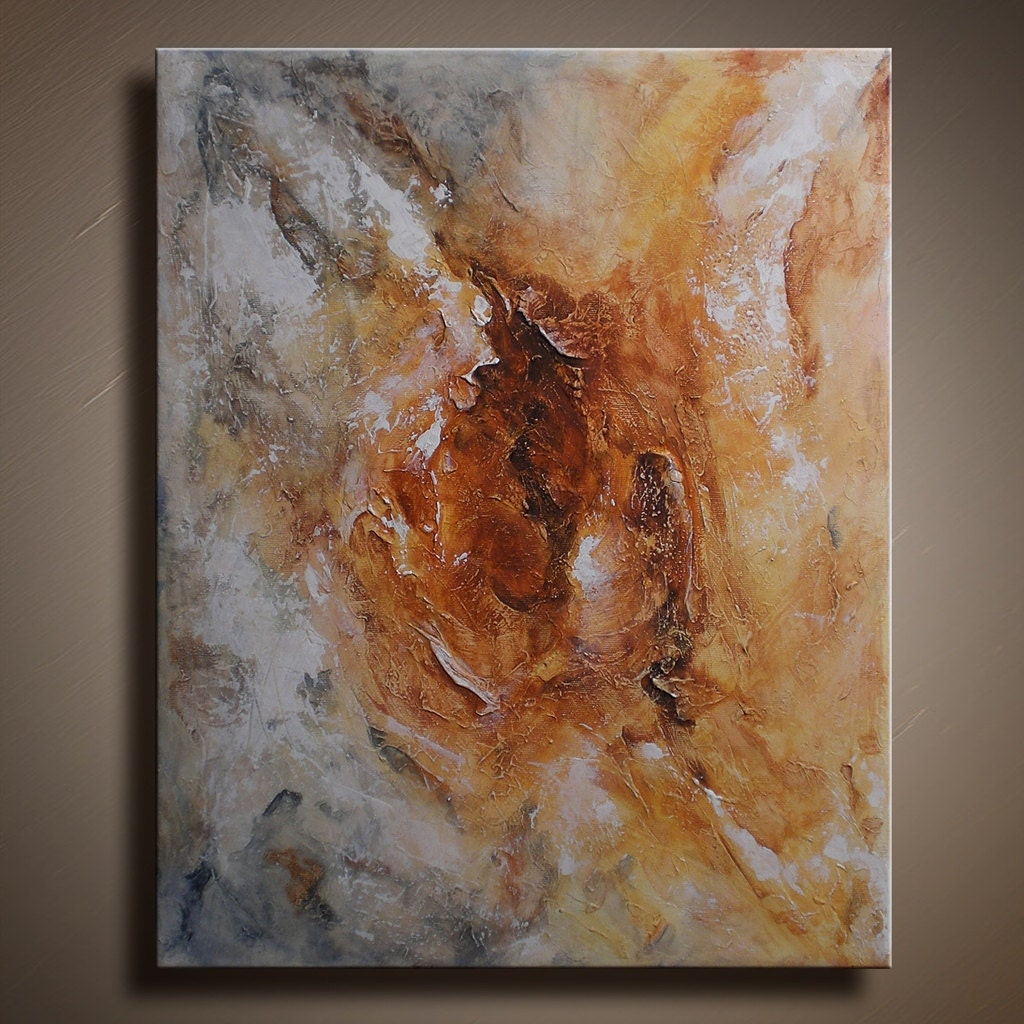 Original abstract textured painting on canvas contemporary for How paint on canvas