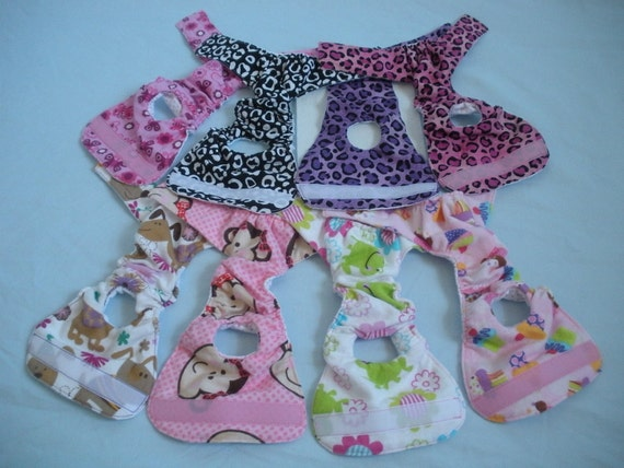 FEMALE DOG DIAPER for extra small dogs, High quality handmade cotton, reusable, washable.