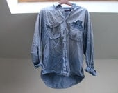 Blue Faded Old Man Painter Shirt