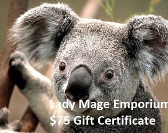 75 Gift Certificate Emailed or Mailed