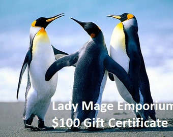 100 Gift Certificate Emailed or Mailed
