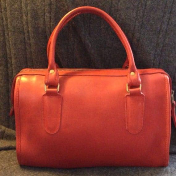 Vintage Coach Bonnie Cashin Madison Speedy Doctor Boston Satchel Purse Bag in Red Orange