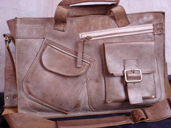 Waterproof 15 inch Macbook Complicated Laptop Leather Bag, Handmade Laptop Bag,Leather Briefcase,Handmade Briefcase