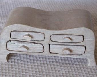 Whitewashed mini dresser