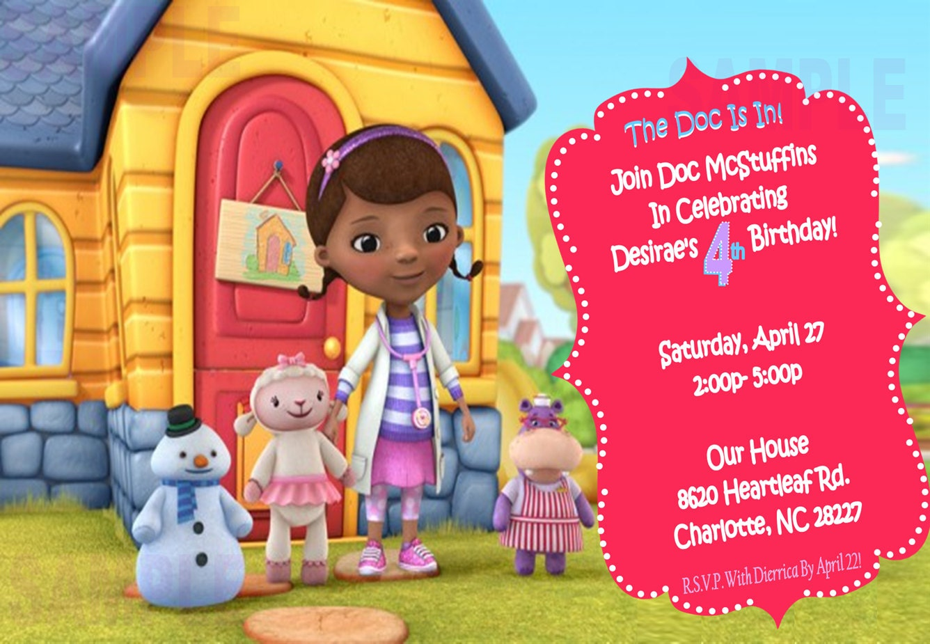 Doc Mcstuffins Invitations was nice invitations template