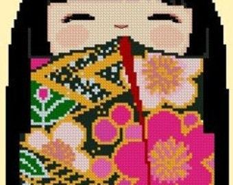 Kokeshi Girl Doll 5 - KaZuKo