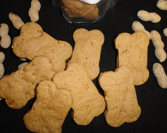 Peanut Butter Dog Treats,Classic Peanut Butter Bone,Tender yet Crunchy,Good for most Senior dogs to manage!