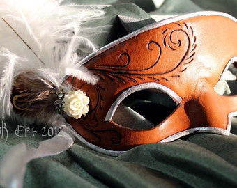 Victorian Rose - Handmade Leather Mask