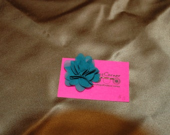 Turquoise Floral Bobby Pin - One Pin