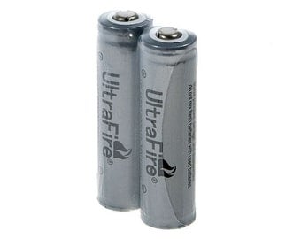 TWO UltraFire Lithium Rechargeable Batteries - LED Hula Hoop Batteries