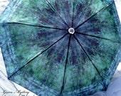SPECIAL ORDER Gorgeous Unisex Spring Fashion Rain Umbrella Nature Inspired Wow Factor Green