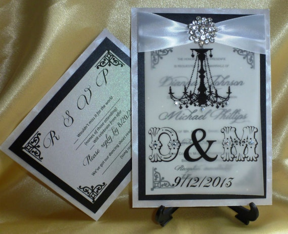 Chandelier Wedding Invitations: SAMPLE Luxury Chandelier Wedding Invitation Groom And