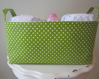 Large Fabric Bin - Diaper Caddy - Dorm Organization