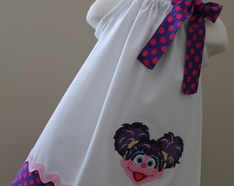 Sesame street Abby Cadabby pillowcase dress