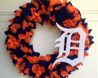 Detroit Tigers Wreath