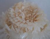 25 ft Ivory Frill Tissue Garland, Festooning, Crafting Supply