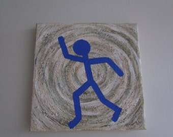 "Small original painting ""The Blue Dancer""- series"
