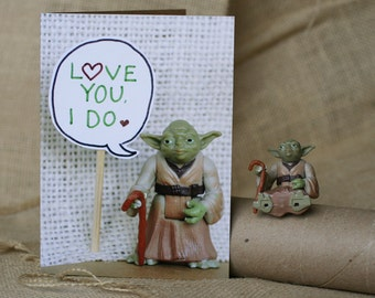 Star Wars Valentine Card - Yoda Loves You, He Does