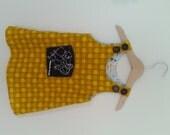 golden apple vegan dress, size 18-24mo.