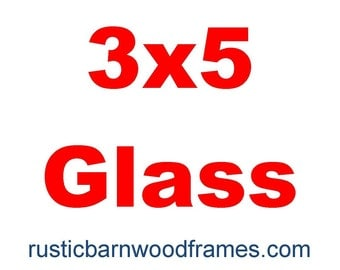 3x5 glass reduced shipping if purchased with our frame