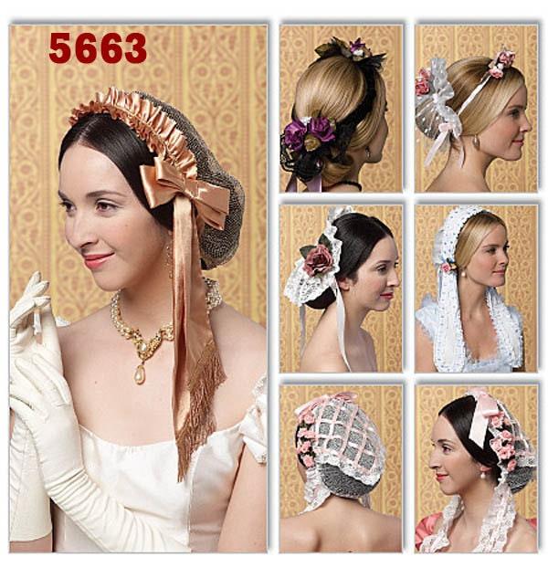 Civil War Ladies Day Caps Victorian Head Wear Free Shipping