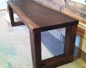 Reclaimed Bench with Drawer