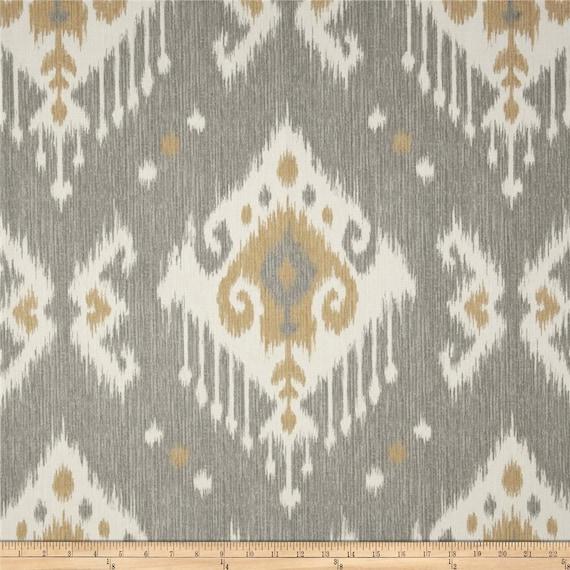 Dakota Grey Cotton Fabric By The Yard Ikat Magnolia Home