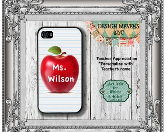 Teacher Personalized iPhone Case, Personalized iPhone Case, Plastic iPhone Case, iPhone 4, 4s, iPhone 5, 5s, 5c, iPhone 6, Phone Case