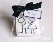Engagement Cookie Favors // One Dozen Sugar Cookies