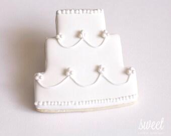 Wedding Cake Cookie Favors  // One Dozen Sugar Cookies
