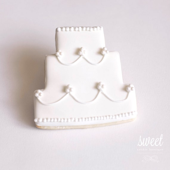 wedding cake cookie favors wedding cake cookie favors one dozen sugar cookies by 22237