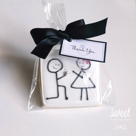 Engagement Party Gift Ideas: Engagement Cookie Favors // One Dozen Sugar Cookies