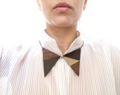 Leather Collar Necklace leather bib necklace Geometric necklace