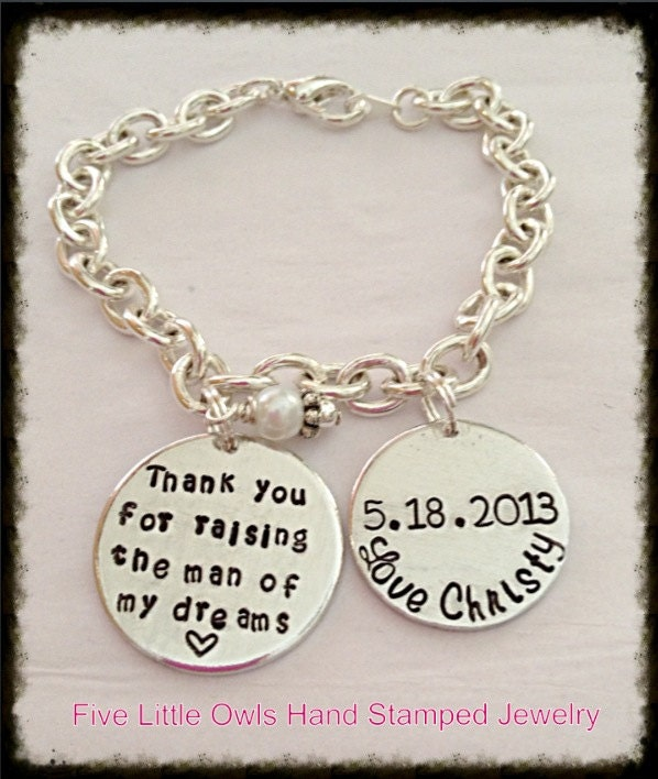 Thank You For Raising The Man Of My Dreams Bracelet
