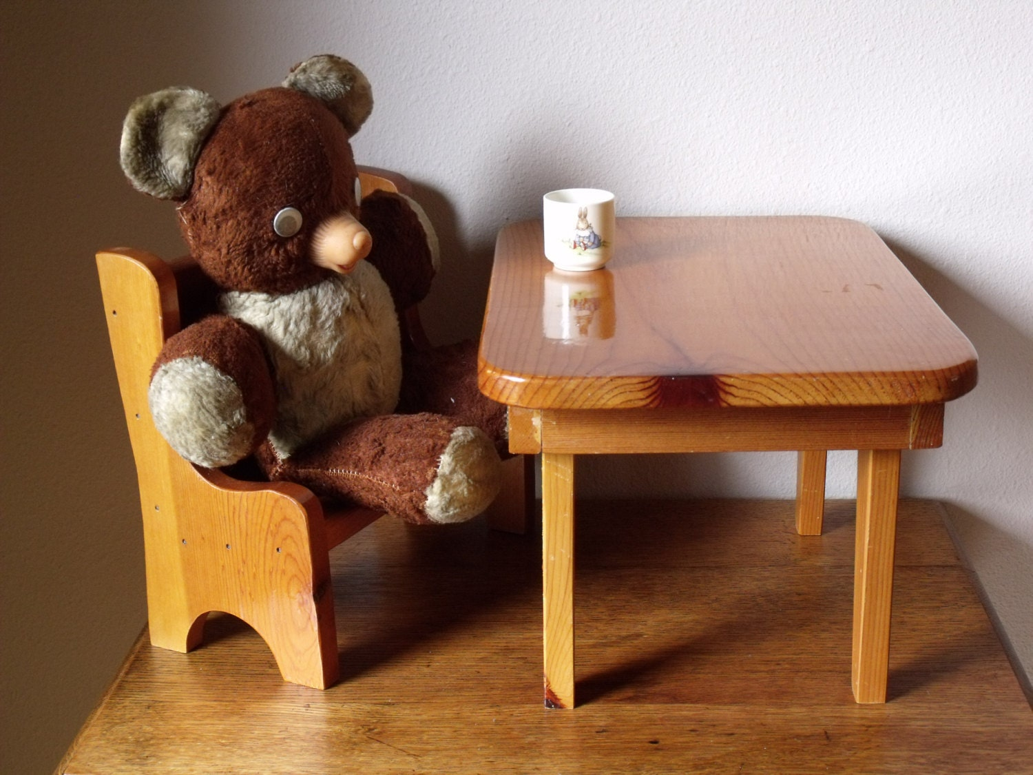 doll size furniture for bears or dolls doll by trilliumandfern