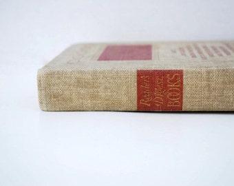 Reader's Digest Books, 1941, Tan, Khaki, Red, Gold, vintage book