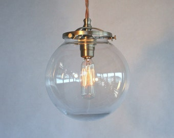 Mid century modern 10 globe pendant light by sanctumlighting for Mid century modern globe pendant light
